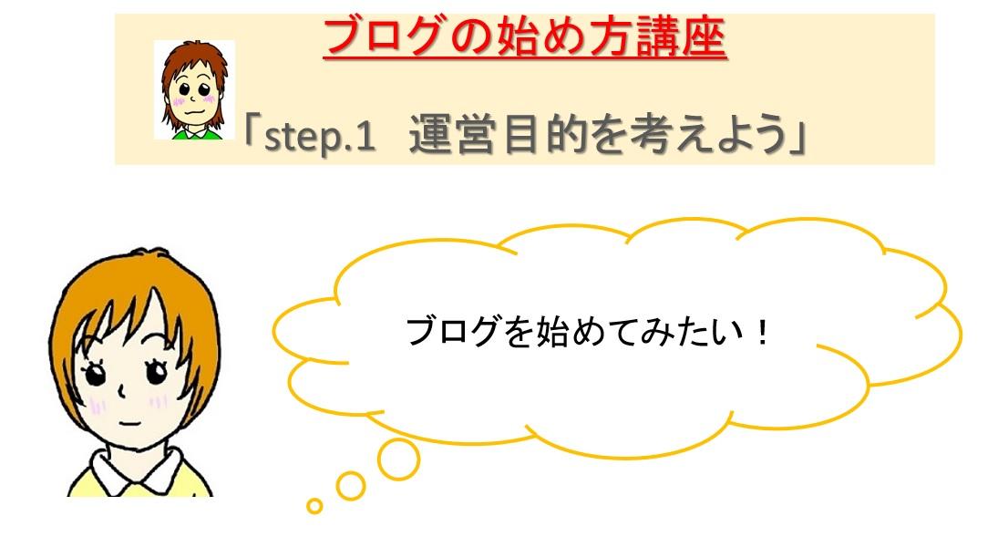 ブログの始め方step1
